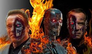 Bureaubladachtergronden The Terminator Arnold Schwarzenegger Robot Films Fantasy