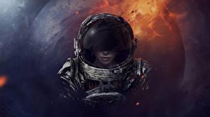 Photo Astronaut Helmet Space