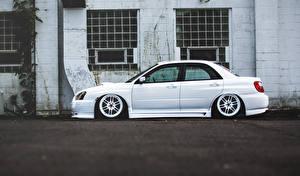 Bilder Subaru Weiß Seitlich impreza wrx sti