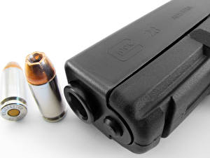 Picture Pistols Cartridge (firearms) Closeup Glock 23