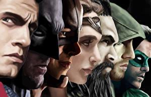 Bakgrunnsbilder Batman superhelt Supermann helten Wonder Woman helten Henry Cavill Ben Affleck Ryan Reynolds Ansikt aquaman flash green arrow green lantern justice league jason momoa Kjendiser