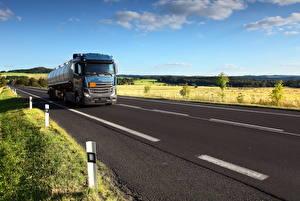 Pictures Lorry Roads Asphalt automobile