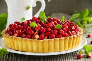 Fotos Obstkuchen Hügel-Erdbeere Backware