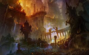 Fotos Tempel Krieg Ruinen Fantasy
