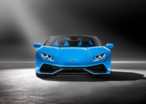Fotos Lamborghini Vorne Hellblau 2015 Huracan Autos