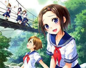Tapety na pulpit Most Uczennica Słodka ginta Anime Dziewczyny