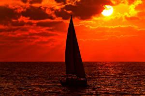 Bilder Segeln Jacht Sonne Horizont Natur