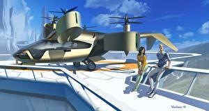 Bilder Fantastische Welt Wandelflugzeug Fantasy