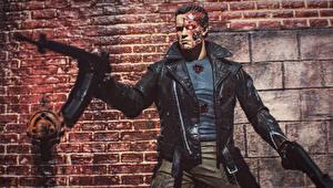 Bureaubladachtergronden Terminator Genisys Speelgoed Arnold Schwarzenegger Een pop Robot Beroemdheden