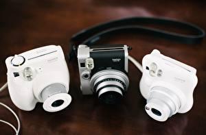 Photo Closeup Camera Three 3 Fujifilm Instax Mini 90 modern