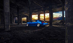 Desktop hintergrundbilder Subaru Brücken Blau BRZ Stanceworks BBS Sport auto