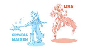 Image DOTA 2 Crystal Maiden Lina Sorcery Mage Staff Fantasy