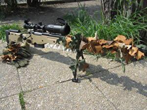 Bureaubladachtergronden Scherpschuttersgeweer Camouflage accuracy international aw 338