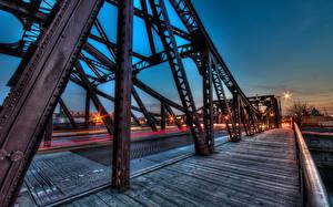 Hintergrundbilder USA Brücken Chicago Stadt HDRI Städte