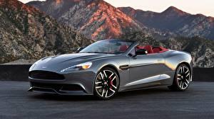 Bilder Aston Martin Berg Cabriolet Graues 2013 Aston Martin Vanquish Volante US-spec auto