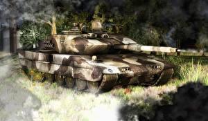 Image Tanks Painting Art Leopard 2 Leopard 2 3D_Graphics