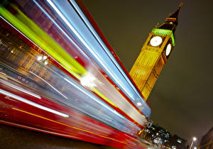 Bilder England London Big Ben Nacht Bewegung Jamie Frith