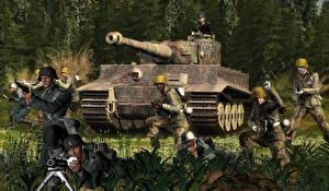 Bilder Panzer Soldaten Tiger Heer 3D-Grafik