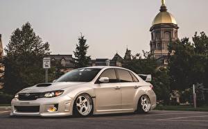 Hintergrundbilder Subaru Impreza WRX STi Stance BellyScrapers Low JDM Rotiform automobil