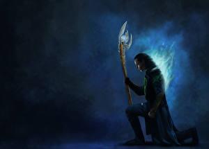 Tapety na pulpit Avengers (film 2012) Tom Hiddleston Loki Filmy Fantasy Celebryci