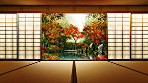 Picture Japan Gardens Autumn Nature