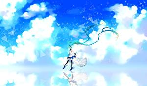 Tapety na pulpit Vocaloid Hatsune Miku Chmury cu riyan 7th dragon Dziewczyny