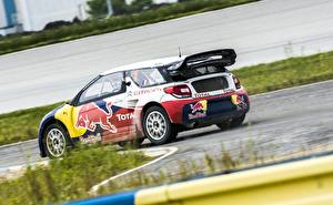 Fonds d'écran Citroen Tuning Rallye automobile DS3 rallycross Red Bull Sebastien Loeb Sport Voitures