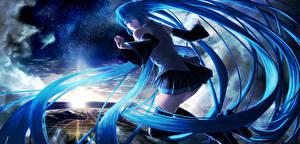 Tapety na pulpit Vocaloid Hatsune Miku nakacha Anime Dziewczyny