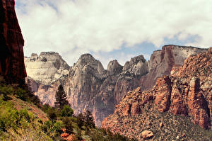 Fotos Vereinigte Staaten Gebirge Zion-Nationalpark Utah