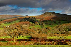 Image Mountain Landscape photography Storm cloud Trees Nature