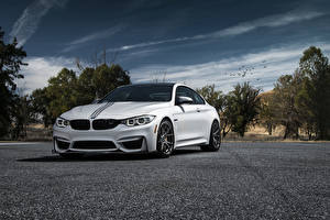 Wallpapers BMW Sky White Asphalt M4 Cars