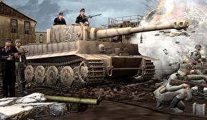 Fotos Panzer Soldaten Tiger Heer 3D-Grafik