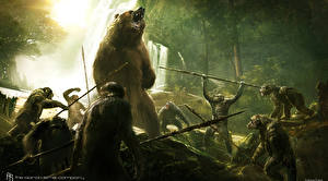Wallpapers Bears Rise of the Planet of the Apes Monkey Dawn of the Planet of the Apes Fantasy