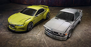 Photo BMW Two Yellow Grey 2015 CSL Hommage Cars