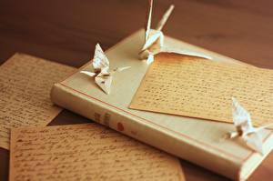 Bilder Buch Brief Origami Papier