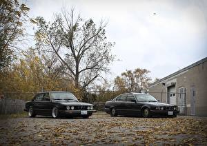 Pictures BMW Tuning Black Two E28 E34 stance Cars