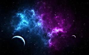 Bureaubladachtergronden Planeten Fantasy Ruimte