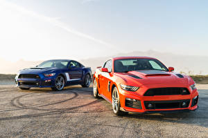 Pictures Ford Two Orange 2014 Roush Stage 2 Mustang automobile