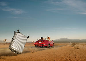 Images Desert Sky Suitcase Cabriolet Ryan Schude automobile Girls