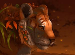 Wallpapers Magical animals Tigers Fantasy