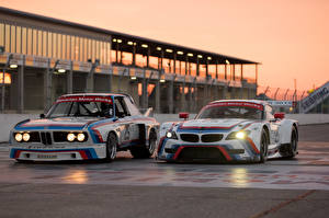 Wallpaper BMW Two Z4 GTLM 3.0 CSL race car sports Cars