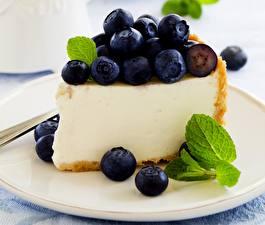 Fondos de escritorio Hornear Arándano Pastel Tarta de queso