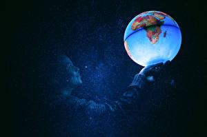 Fonds d'écran Géographie Étoile Boules Globe planétaire Espace Filles