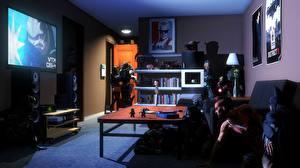 Wallpaper Mass Effect Far Cry Room Fanart vaas crossover garrus vakarian batman iron man starcraft nova terra raiden Metal Gear Rising: Revengeanc 3D Graphics Fantasy Games