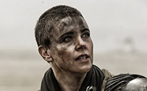 Fotos Charlize Theron Mad Max: Fury Road Gesicht Blick Imperator Furiosa Film Prominente Mädchens