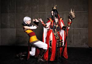Hintergrundbilder Diablo Magierstab Kleid Mönch Monk Wizard Spiele Fantasy Mädchens