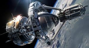 Bureaubladachtergronden Schip Planeet oppervlak Ender's Game Orson Scott Card sci-fi spaceship Fantasy Ruimte