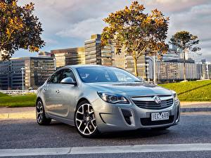 Desktop hintergrundbilder Opel Silber Farbe 2015 Holden Insignia VXR automobil