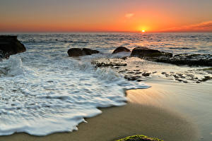 Hintergrundbilder Küste Meer Sonnenaufgänge und Sonnenuntergänge Horizont Sonne Natur