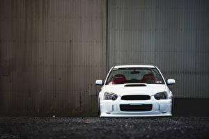 Fotos Subaru Vorne Weiß impreza wrx sti Autos
